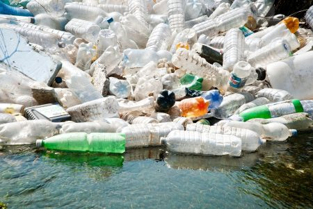 plastic bottles in landfill