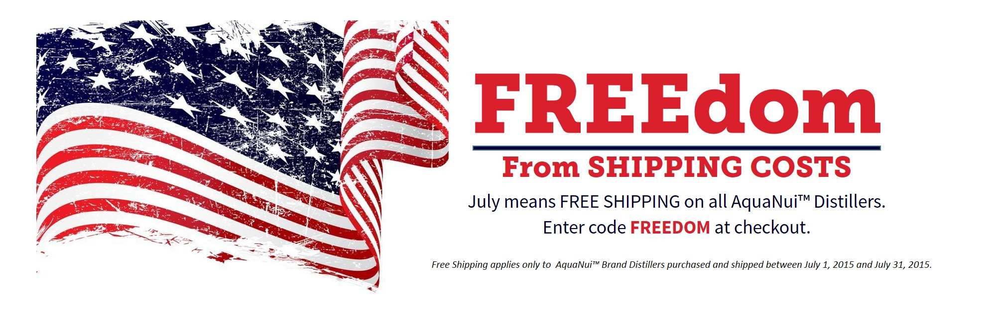 July Free Shipping