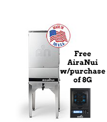AquaNui 8 Gallon Automatic Home Water Distiller with 5 Gallon Storage Tank & Free AiraNui Air Purifier