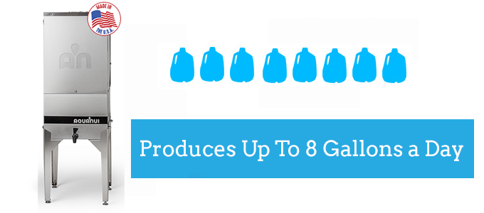 8G produces up to 8 gallons of distilled water daily
