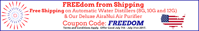 Automatic Water Distiller Sale Plus Free Shipping