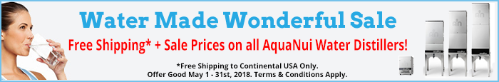 May 2018 Water Distiller Sale
