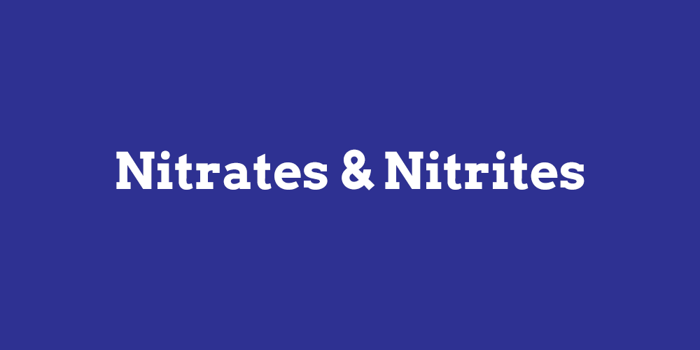 nitrates and nitrites in drinking water
