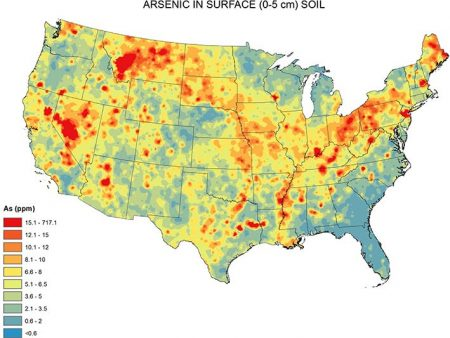 arsenic contamination map usa
