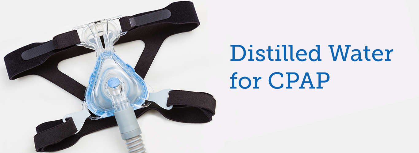 distilled water for cpap banner