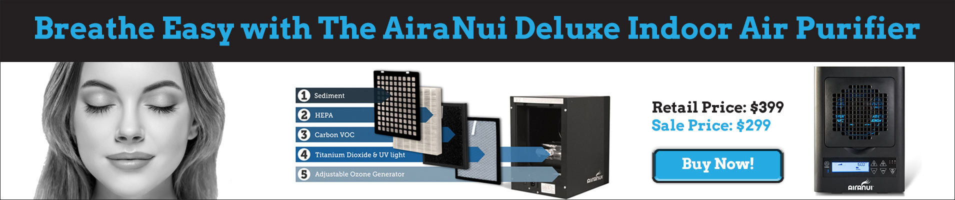 AiraNui Indoor Air Filter Sale